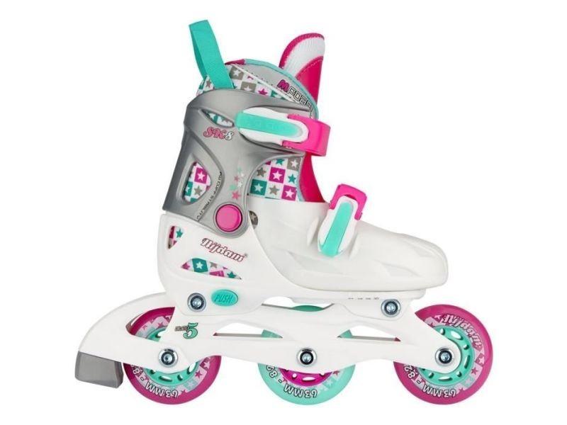 Roller in line taille 27/30 junior rollers en ligne - enfant - rose