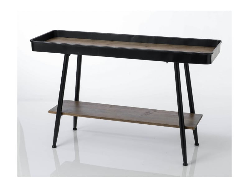 Consoles en bois et métal - effy