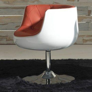 fauteuil simili cuir rouge zola l x 66 x l 65 x h 45 neuf vente de tousmesmeubles. Black Bedroom Furniture Sets. Home Design Ideas