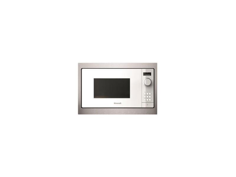 Micro-ondes encastrable blanc 900w 26l - technologie smartassist, cavité inox, minuterie 60mn