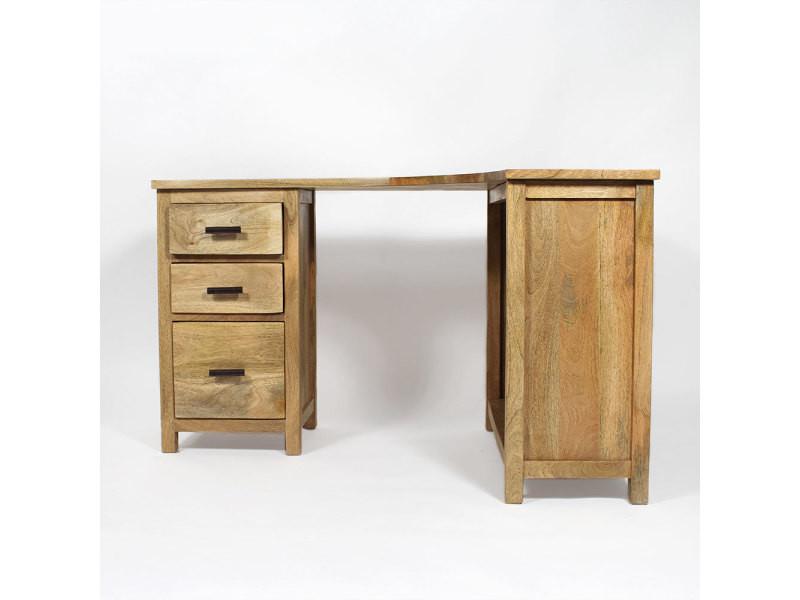 bureau bois massif en angle bt282 vente de bureau conforama. Black Bedroom Furniture Sets. Home Design Ideas
