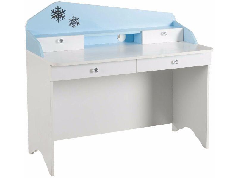 Bureau Enfant 121 Cm Avec 4 Tiroirs Design La Reine Des Neiges