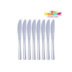 50 couteaux  jetables plastique gris