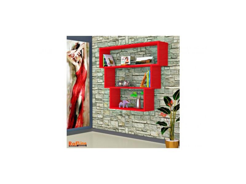 rouge trio a murale Etagere Vente suspendre Etagère de ymIY7bf6gv