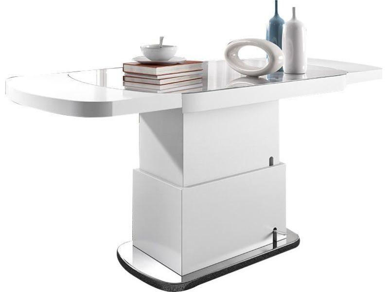Et Blanc 120 180 Design Ovale Cm Relevable Coloris Table Extensible 5Rj4qSc3AL
