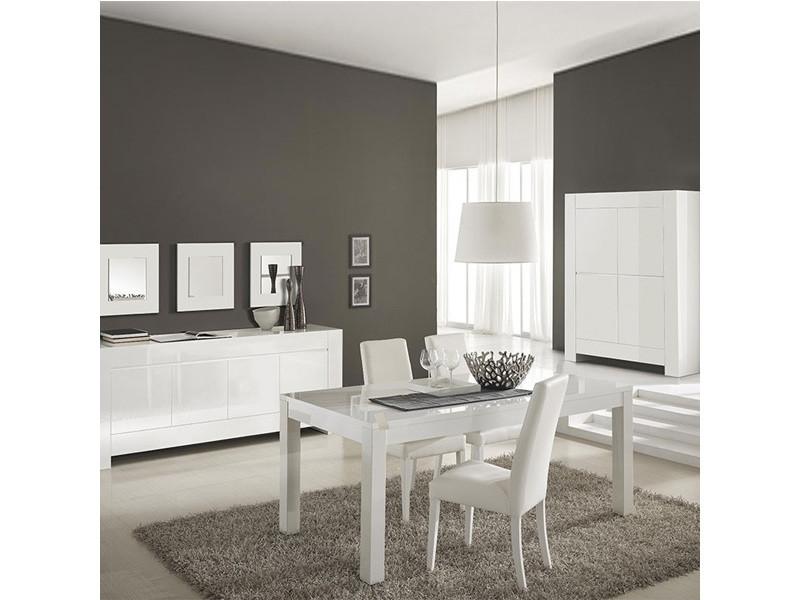 Salle A Manger Complete Blanc Laque Design Bianco Vente De