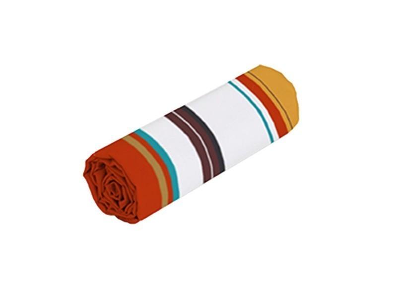 Drap-housse rayé plume 3 tailles - 90x190 cm