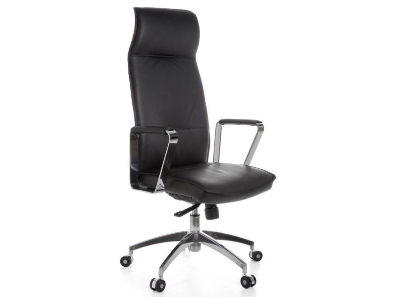 Design Cuir Véritable Coloris Chaise Noir Avec De Bureau 5 En shCtQrdx