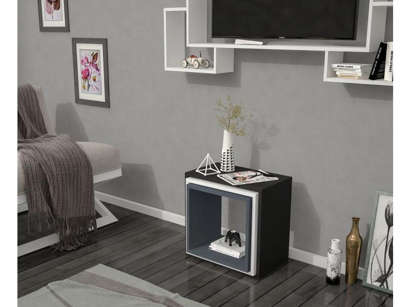 Table basse design 3luzigon noir et gris anthracite