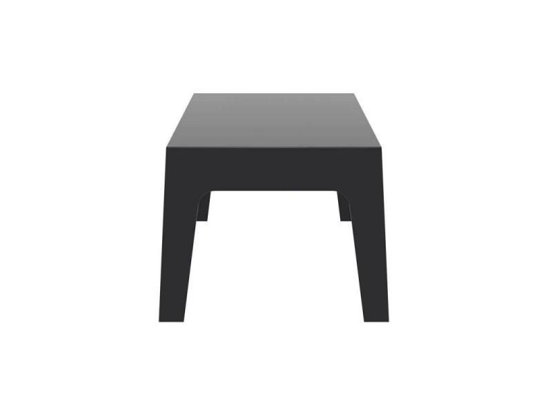 Table basse de jardin en plastique noir 50x70x43 cm mdj10173 ...