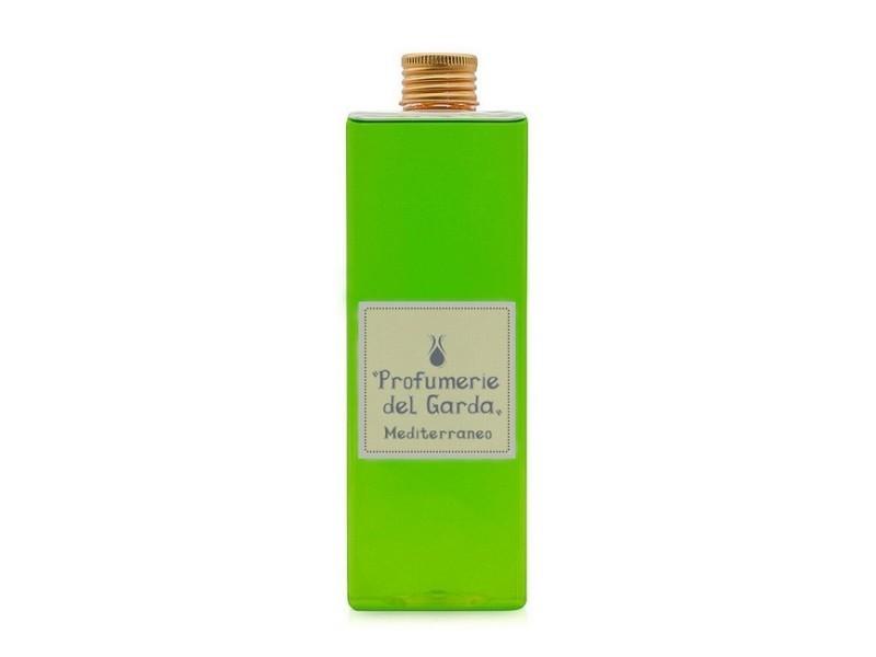 Homemania recharge mediterraneo - pour diffuseur, assainisseur d'air avec remplacement de bâtons - parfum boisé et d'agrumes - 500 ml vert en verre, aluminium, parfum, 6 x 6 x 17,5 cm