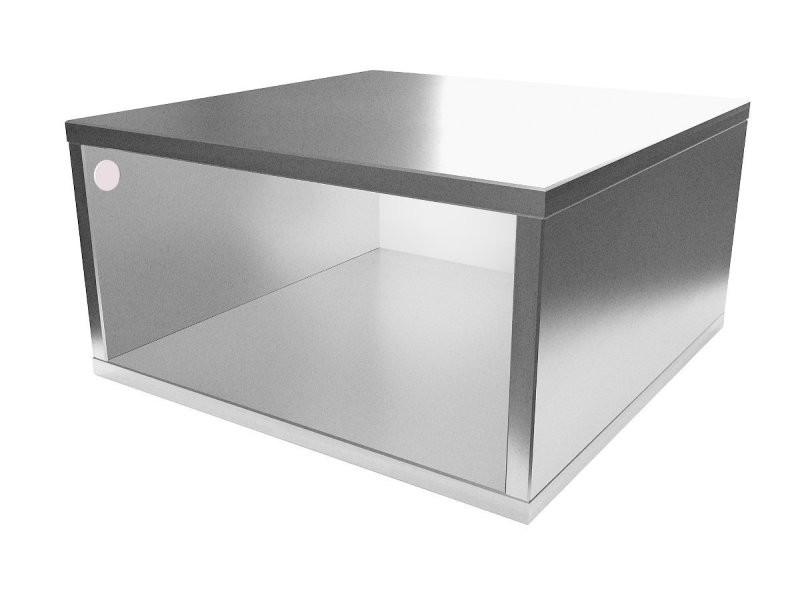 Cube de rangement bois 50x50 cm 50x50 gris aluminium CUBE50-GA
