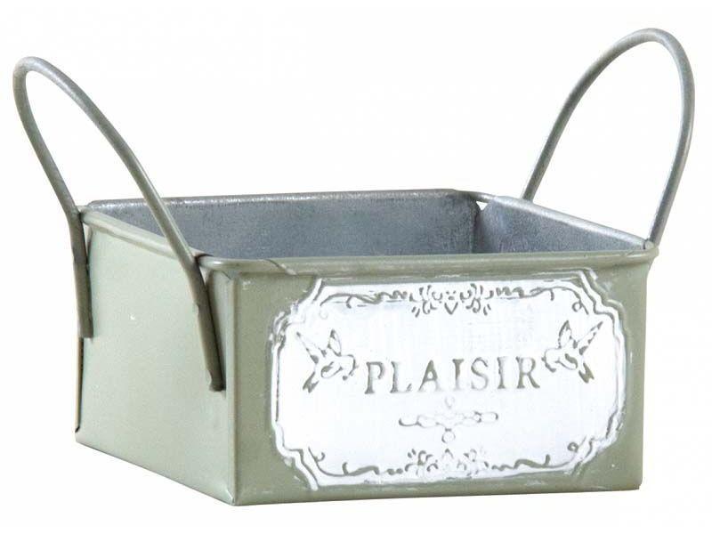 Mini corbeille en métal laqué olive plaisir