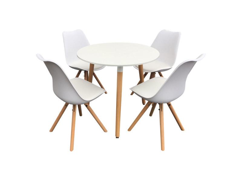 Ensemble Table Et Chaises Scandinave Rita Blanc Vente De Happy
