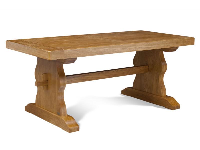 Table monastère la bresse - bois chêne massif l180