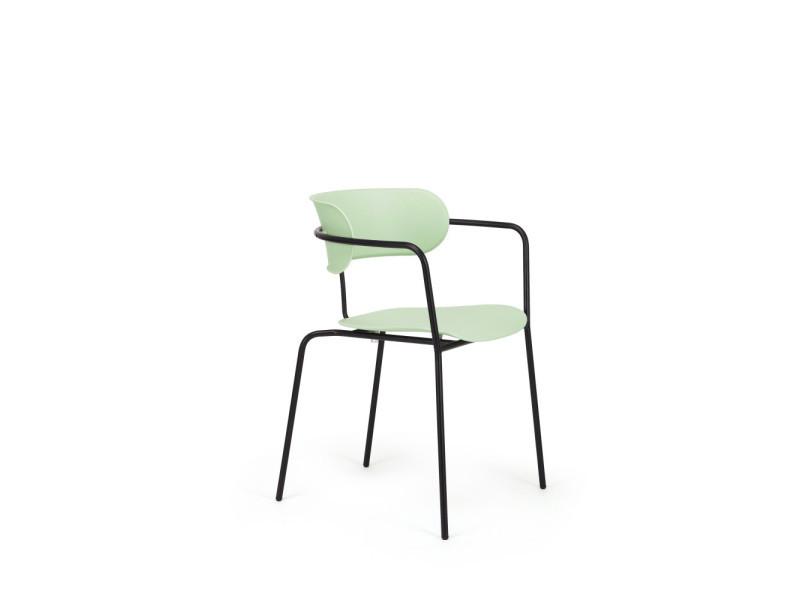 accoudoirs vert chaises avec Manawa design 2 couleur 80NOvmwynP