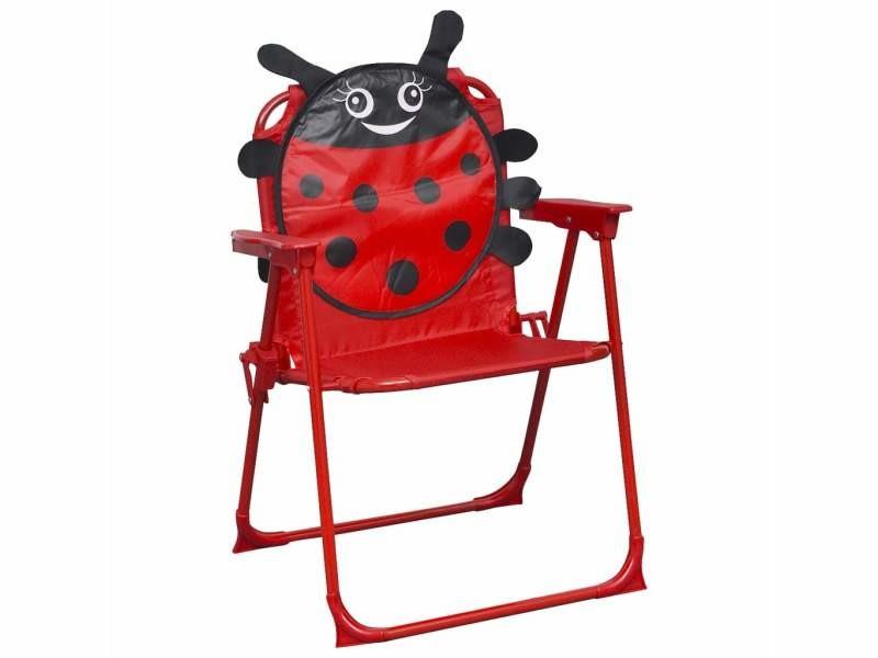 Vidaxl chaises de jardin pour enfants 2 pcs rouge tissu 48101