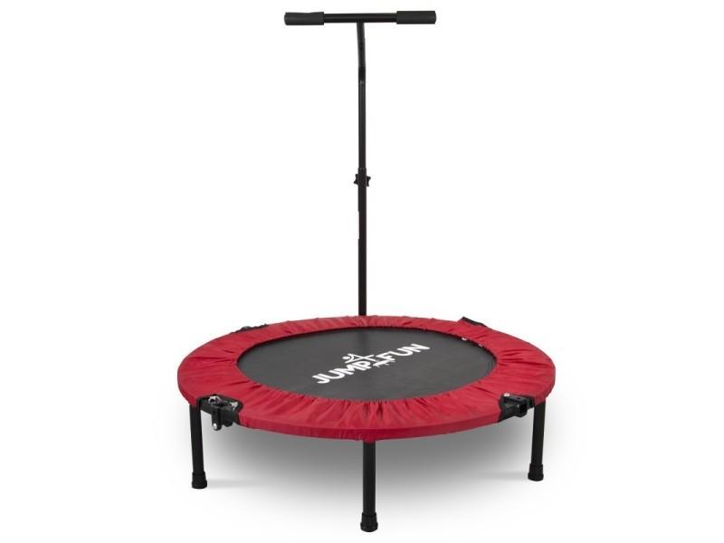 Mini trampoline fitness jump4fun pliable t-bar - ø92cm, rouge