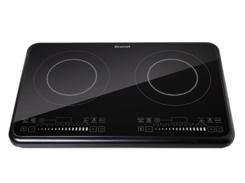 Brandt ti2fsoft table de cuisson posable 2 foyers a induction noir