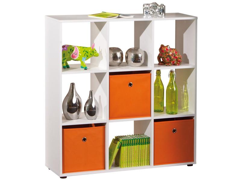 meuble de s paration design carr coloris blanc p 813 co elza9 vente de biblioth que conforama. Black Bedroom Furniture Sets. Home Design Ideas