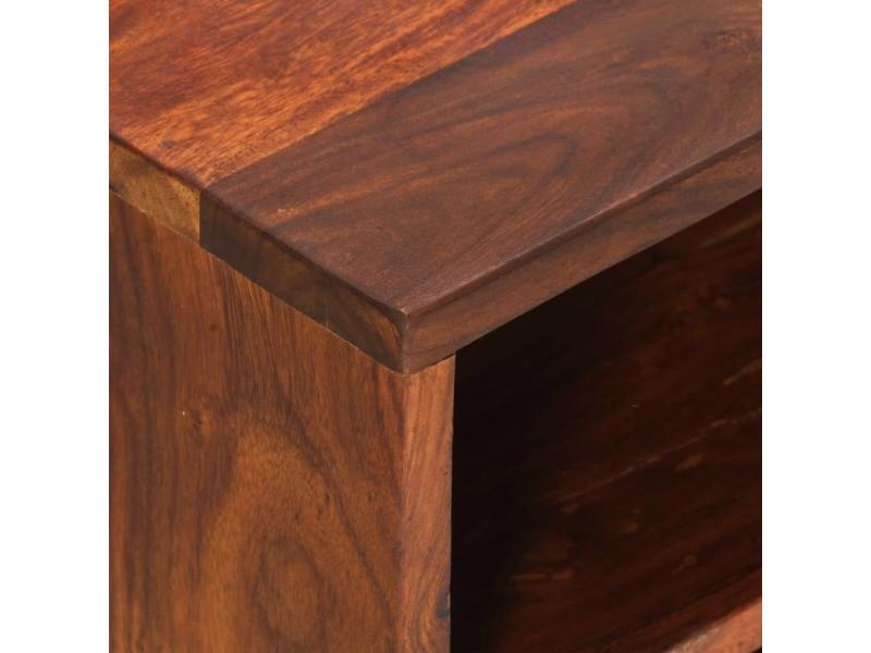 Icaverne - meubles tv ensemble meuble tv 80x30x42 cm bois solide