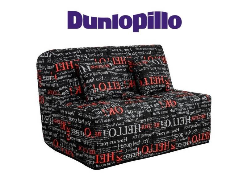 Canapé convertible bz love imprimé système slyde matelas dunlopillo 15cm couchage 160*200cm 20100875438