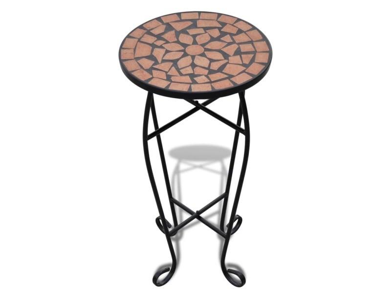 Vidaxl table d'appoint mosaïque terre cuite 41127