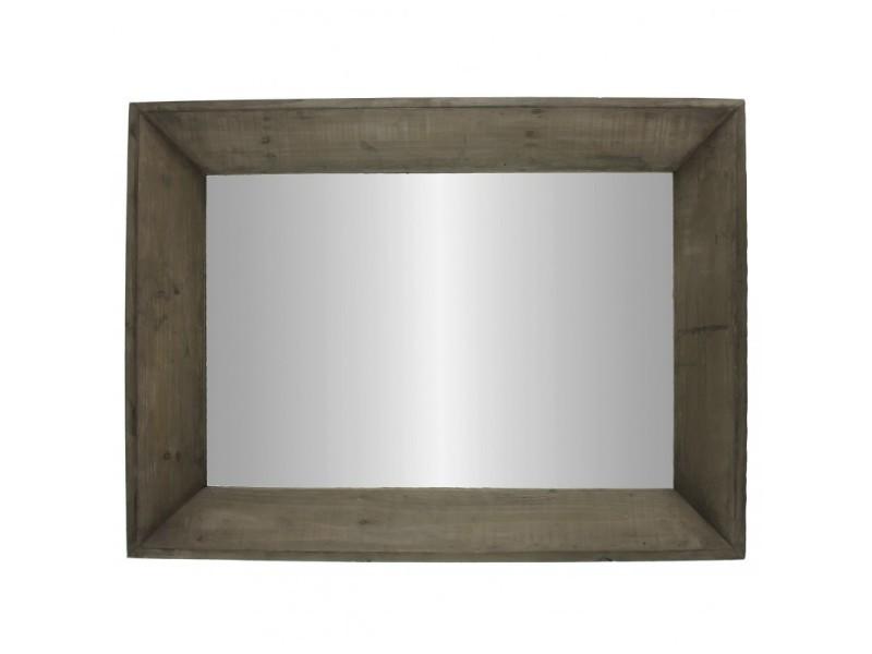Grand miroir rectangulaire glace murale trumeau en bois 7x58x78cm