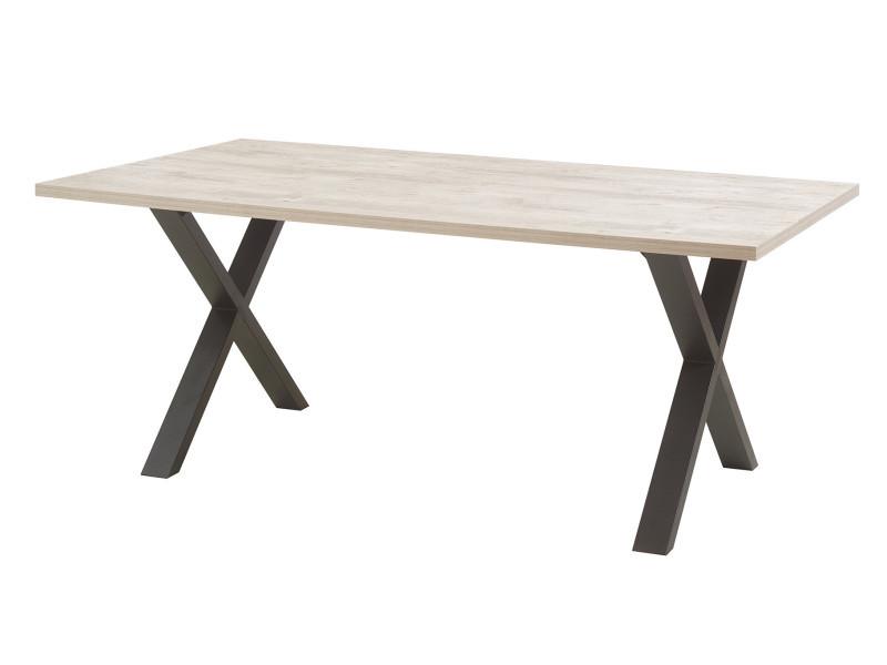 Table de salle à manger contemporaine chêne clair ankara i