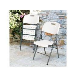 Chaise d'appoint pliante portable pour banquet et pique-nique
