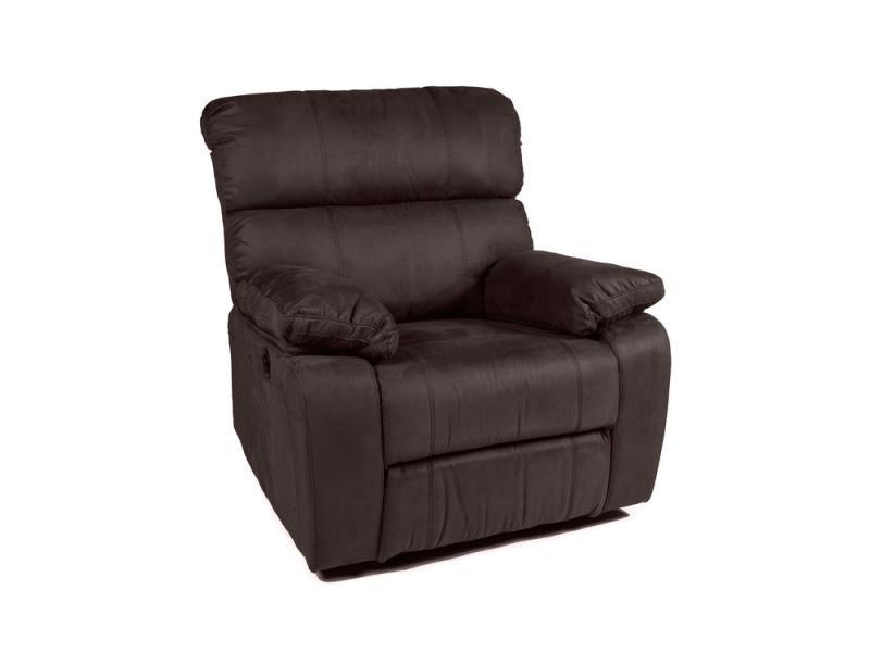 fauteuil relax lectrique en tissu microfibre marcello conforama. Black Bedroom Furniture Sets. Home Design Ideas