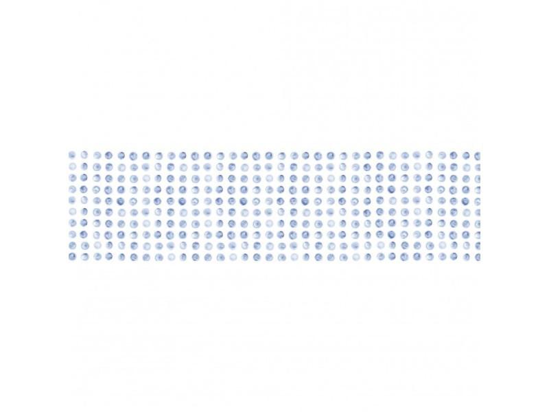 Brise vue 80% occultant points bleus 300 x 80 cm - décoration extérieure brise vent de jardin, balcon ou terrasse