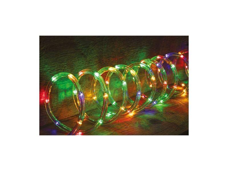 Guirlande lumineuse extérieur tube led 8 fonctions 18 m multicolore