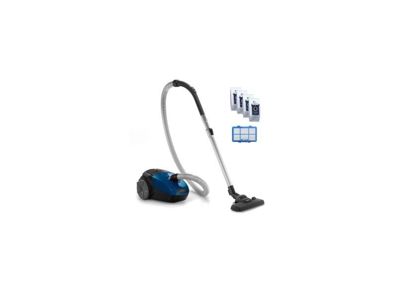 Philips fc8245/09 aspirateur traîneau avec sac powergo - 750w - 77 db - a - bleu foncé PHI8710103809326