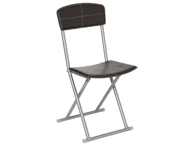 Chaise pliante - pvc - marron