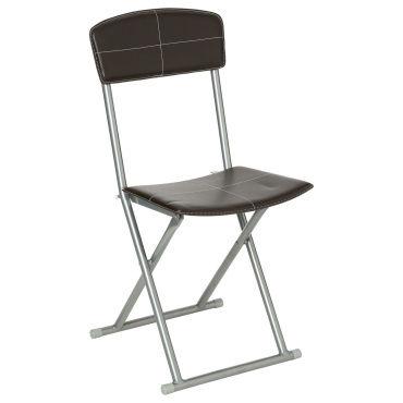 Chaise pliante pvc marron vente de chaise conforama - Chaise pliante salon ...