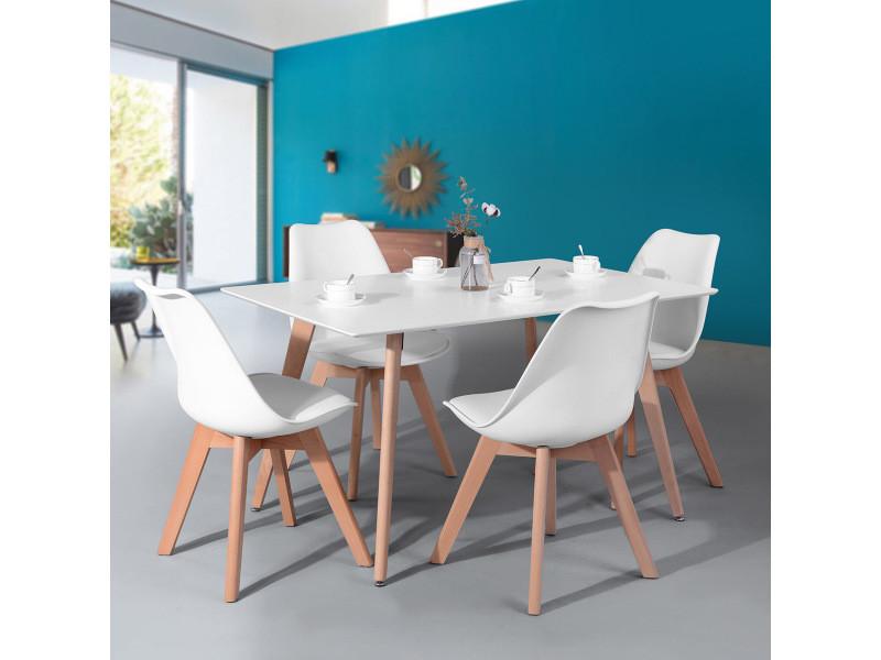 Ensemble Table A Manger Rectangulaire Et 4 Chaises
