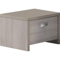 Table de chevet chambre bébé coloris chêne clair