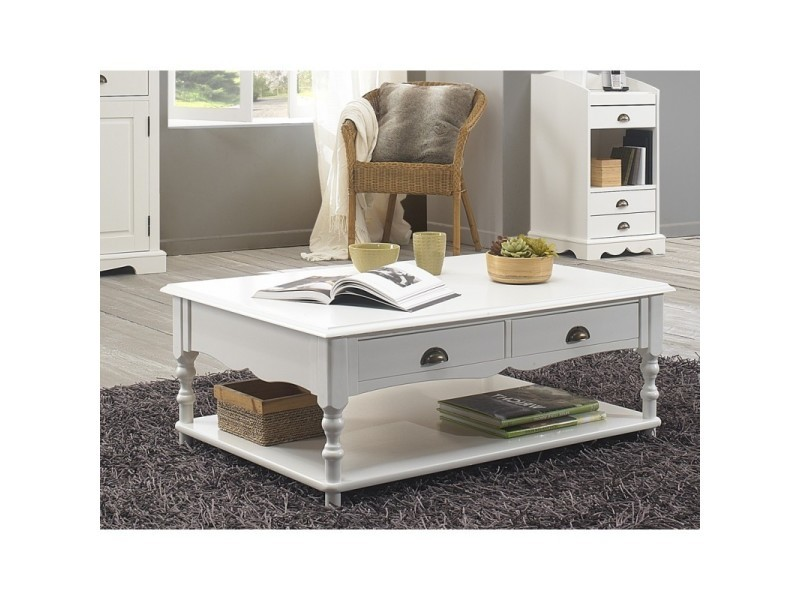De Table Anglais Style Basse Conforama Blanche Vente H2YED9WI