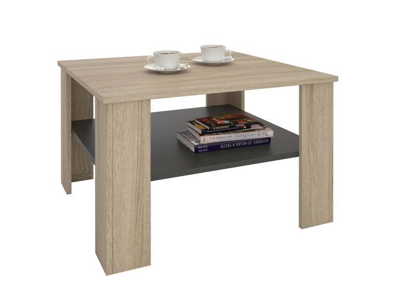 Table basse table de salon sejour mdf d cor ch ne sonoma for Table basse sonoma
