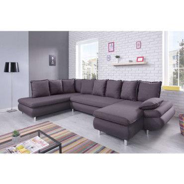 canap nesty panoramique gris 71515270710 vente de bobochic conforama. Black Bedroom Furniture Sets. Home Design Ideas