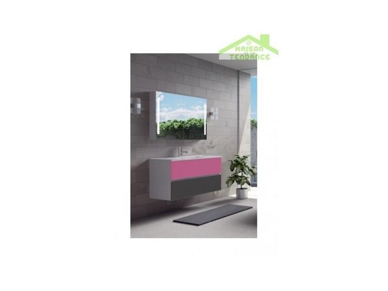 Ensemble meuble & lavabo riho cambio comodo set 12 100x46x h 57 cm - bois laqué brillant FCO100Z01DDDS12