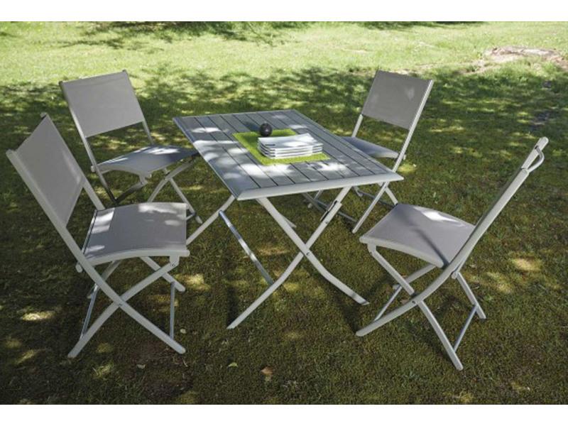 4 Ensemble Table En Pliante Jardin Et Aluminium Chaises Pliantes OPZXTwkiu