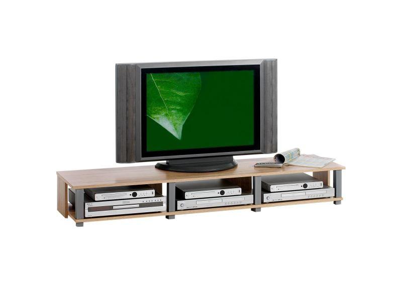 meuble tv bas kimi mdf d cor ch ne sonoma vente de meuble tv conforama. Black Bedroom Furniture Sets. Home Design Ideas