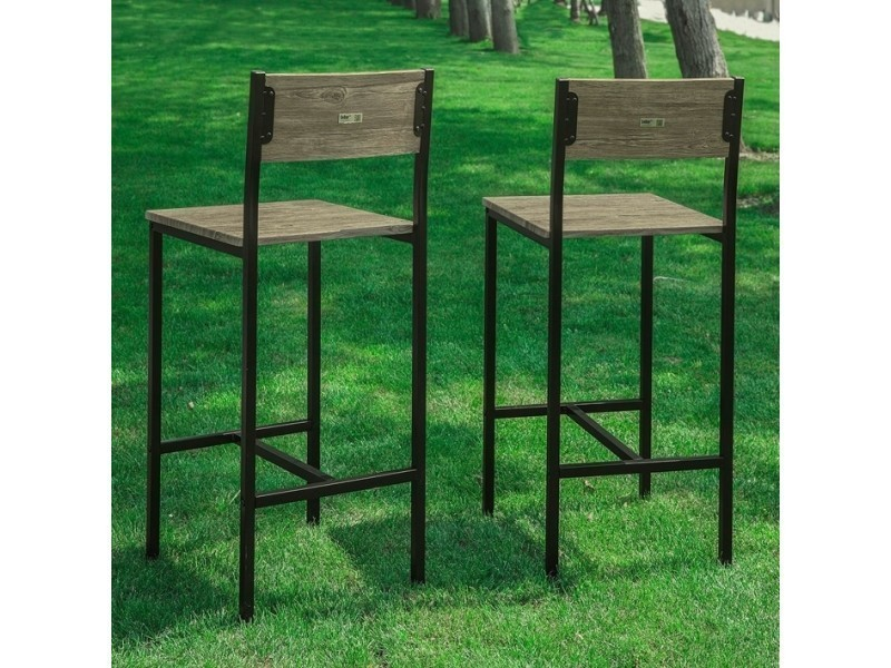 Lot de 2 chaises tabourets de bar cuisine chaises de bar