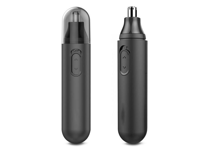 Tondeuse électrique unisexe rasoir rotation 360 degrés nez haute vitesse noir - yonis