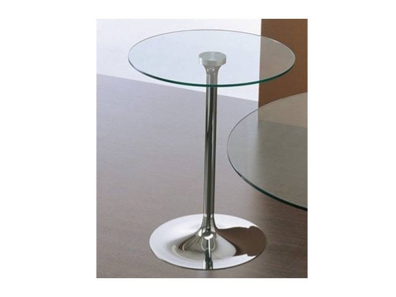 Table repas armony en verre et acier chromé 60 cm 20100850641