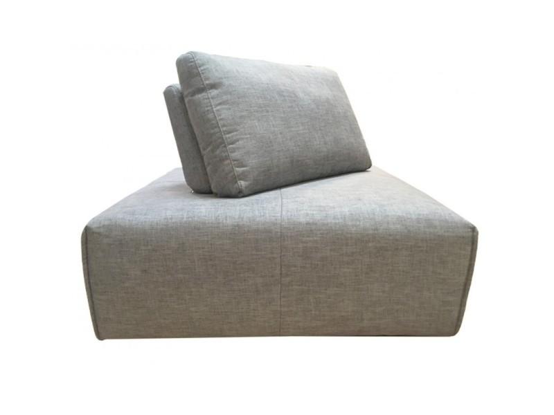 Module de canapé angle réglable en tissu gris clair - modulo