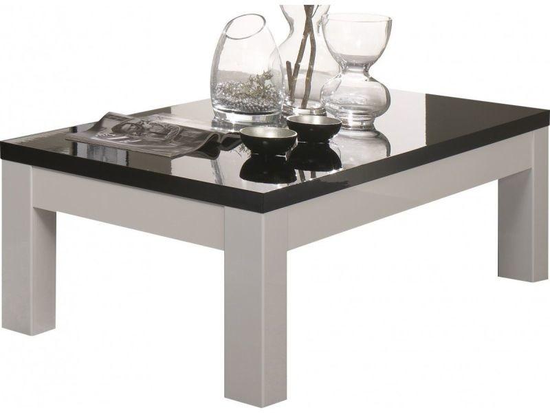 Table De Salon Ultra Design Blanc Et Noir Laque P 6897 Co