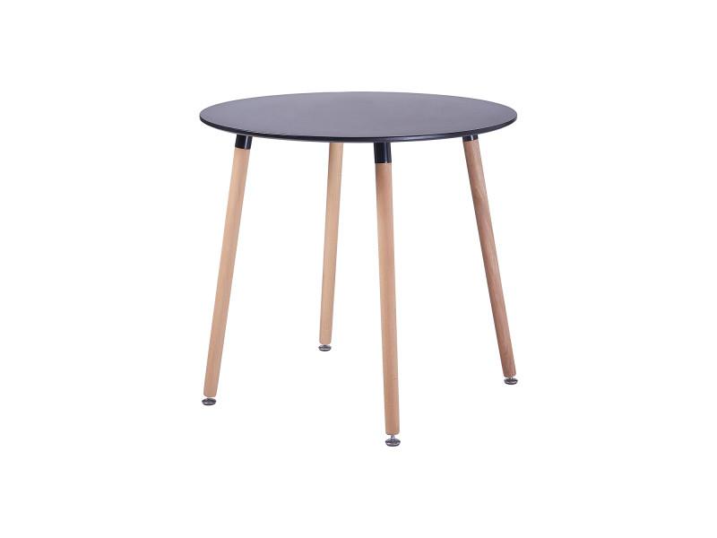Table a manger ronde en bois salle a manger scandinave - Conforama table de salle a manger en verre ...